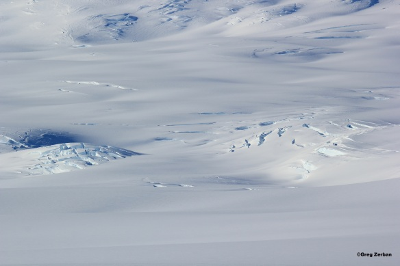 More crevasses in the side of Mt. Erebus.  This side of Erebus is very deadly and not safe to travel on.  The safer route up the volcano is on the opposite side.